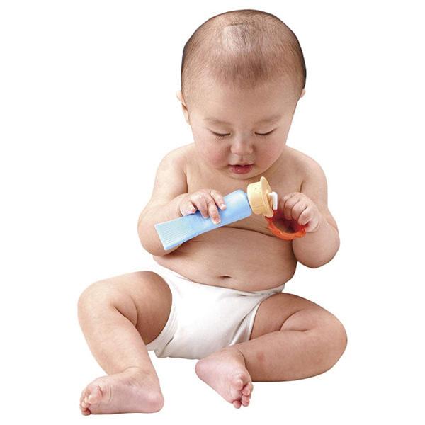 日本 People 新乳液瓶身咬舔玩具 固齒器 新生兒玩具 4512 好娃娃