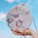 古風包包漢服旗袍中國風2020新款單肩繡花小圓包名媛錬條手拿女包 蘿莉新品