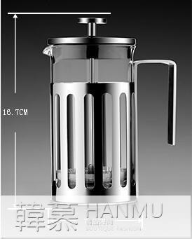 加厚家用玻璃法壓壺不銹鋼手沖咖啡壺家用法式濾壓壺咖啡沖茶器  母親節特惠