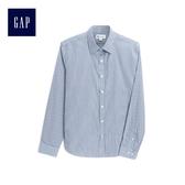 Gap男裝 舒適休閒長袖襯衫 511739-藍色條紋
