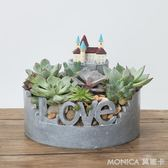 田園創意動物城堡多肉植物花盆個性仿水泥微景觀花盆裝飾花器 莫妮卡小屋 IGO
