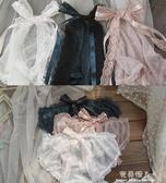 3條裝蝴蝶結蕾絲網紗內褲女透明性感情趣可愛少女三角褲有大碼肥  【快速出貨】