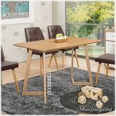 【水晶晶家具/傢俱首選】摩納哥4 尺木面鐵腳餐桌~~不含餐椅請另購 ZX8864-3