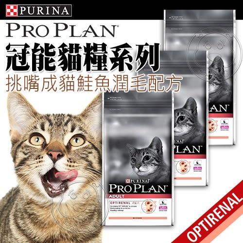 【培菓平價寵物網】 冠能 Pro Plan》挑嘴成貓鮭魚潤毛配方-400g