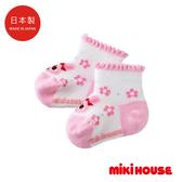 MIKI HOUSE 日本製 舞颯兔花朵兒童襪
