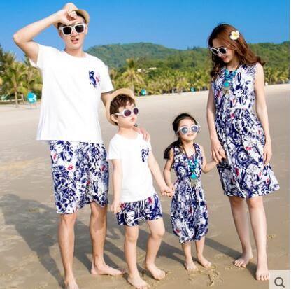 親子裝沙灘度假裝BS16008『時尚玩家』