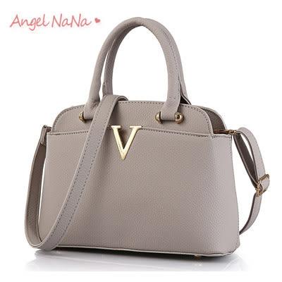 手提包。AngelNaNa 歐美OL 簡約V字 女斜背包 側背包(SBA0157)