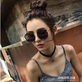 墨鏡潮女個性優雅圓臉復古太陽鏡圓形女士款  朵拉朵衣櫥