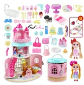 兒童玩具女孩城堡公主夢過家家娃娃屋小女童寶寶兒童生日禮物3-6 滿天星