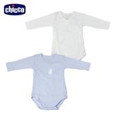 chicco-粉彩系列-前側開長袖連身衣二入-藍