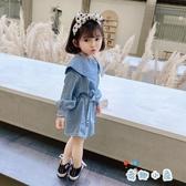 女童牛仔連身裙韓版寶寶秋裝公主長袖裙子【奇趣小屋】