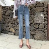 大尺碼褲子 2020春季新款大碼微喇叭牛仔褲韓版九分闊腿褲