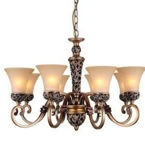 設計師美術精品館吊燈 特價歐式古典燈具客廳大廳臥室餐廳鐵藝樹脂玻璃雕花8頭吊燈