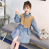 女童牛仔套裝2021春裝新款洋氣韓版中大童襯衫馬甲洋裝兩件套潮 幸福第一站
