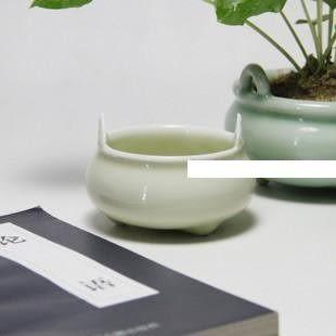 龍泉青瓷紫檀小線香爐