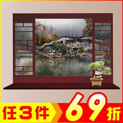 創壁貼-中式庭院窗戶風景畫 MJ8018A-989【AF01013-989】JC雜貨