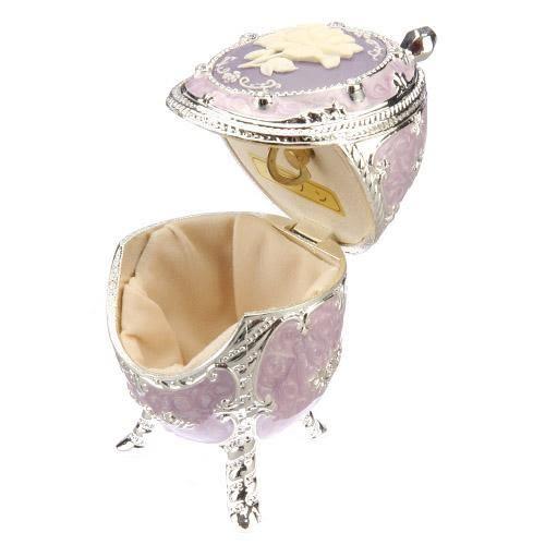 日本製合金發條音樂珠寶盒蛋型744-345通販屋