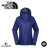 【The North Face 女 DryVent防風防水連帽外套《藍》】3CHS/夾克/風雨衣/休閒外套