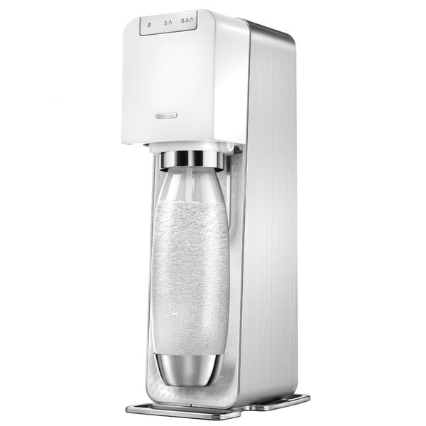 ◤限量贈emoji水滴寶特瓶1L三入組◢ 【Sodastream】電動式氣泡水機POWER SOURCE旗艦機(白)