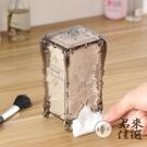 2個裝 抽取式化妝棉收納盒塑料透明帶蓋收納卸妝棉盒【君來佳選】