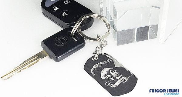 FU飾品 聖誕 耶誕節 禮物 客製化男生款 鑰匙圈 西德鋼吊飾 【Fulgor Jewel】