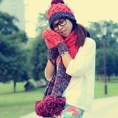 圍巾+毛帽+手套羊毛三件套-可愛保暖針織防寒配件組合4色71an3【巴黎精品】