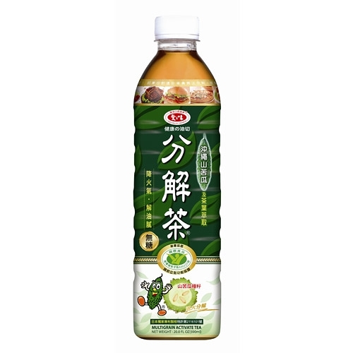 愛之味分解茶沖繩山苦瓜(無糖)590ml(4入)/組【康鄰超市】