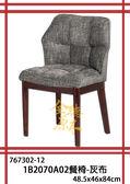 【全德原木】767302-12 1B2070A02餐椅-灰布 北歐風-工業風-鄉村風