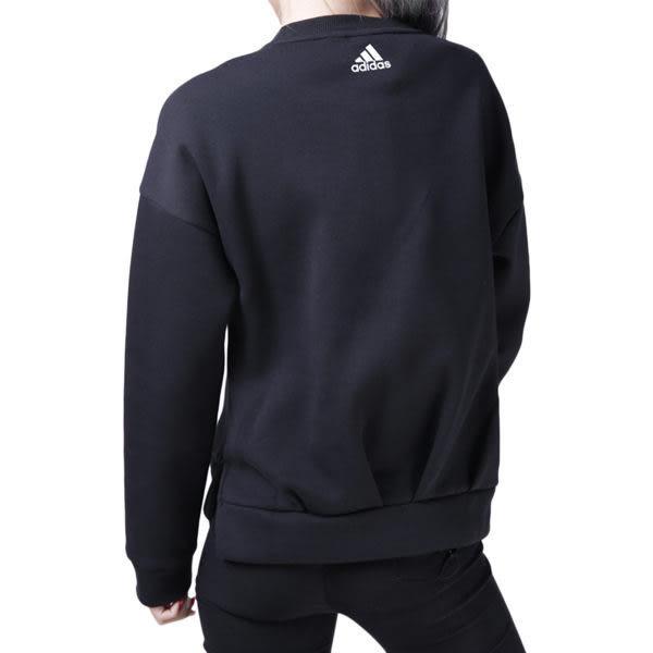 Adidas GFX Crew 女 黑白 大學T 大標誌 衛衣 棉 毛圈棉衛衣 愛迪達 長袖T恤 CZ2371