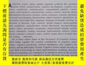 二手書博民逛書店Dictionary罕見of Cognitive Science