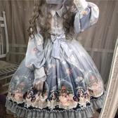逗醬工作室原創Lolita圣誕水晶球雪人宮廷洛麗塔春季長袖洋裝 - 歐美韓熱銷