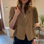 氣質 洋裝 網紅薄款西裝外套2020新款夏季女裝韓版氣質垂感短袖上衣潮【8折搶購】