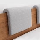 床頭軟包靠背墊實木床頭罩靠墊ins風 北歐 簡約現代 可拆洗掛墊 夢幻小鎮
