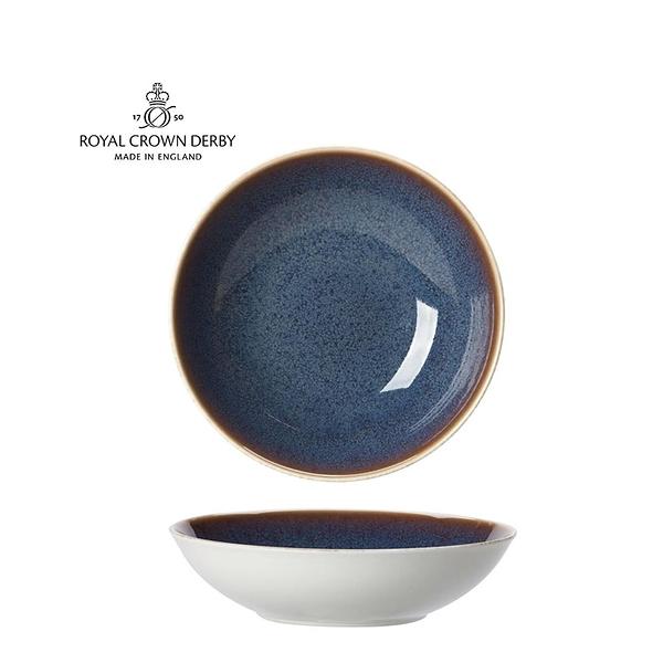 英國Royal Crown Derby-Art Glaze藝術彩釉系列-25.5CM義式湯盤-黛紫