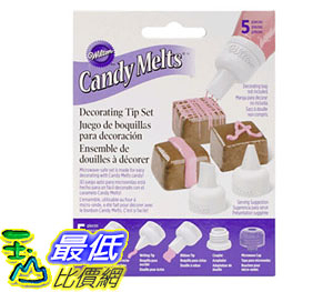[105美國直購] Wilton 1904-1021 5-Piece Candy Melt Decorating Tip Set
