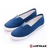 美國AIRWALK-390元起 三角鬆緊 百搭舒適懶人帆布鞋(女)-藍
