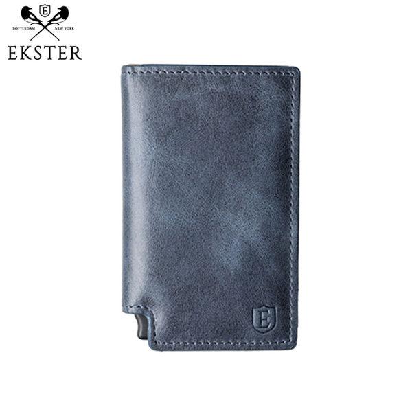 Ekster 荷蘭x紐約設計品牌 經典真皮RFID防盜皮夾 (黑/深咖啡/藍)