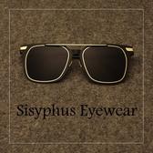 《澤米》金屬方型新款墨鏡 跑男鄭愷同款 男女太陽眼鏡 鏡架 鏡框 質感單品(全館任二件商品