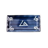 藍黛陶瓷11.7吋長方盤-幾何