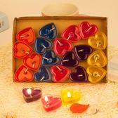 聖誕交換禮物-蠟燭心形果凍愛心求婚無煙浪漫生日錶白神器燭光晚餐禮物布置裝飾