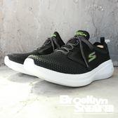 Skechers GO RUN FAST 黑螢光綠 網布 慢跑鞋 男 (布魯克林)2018/09月 55102BKLM