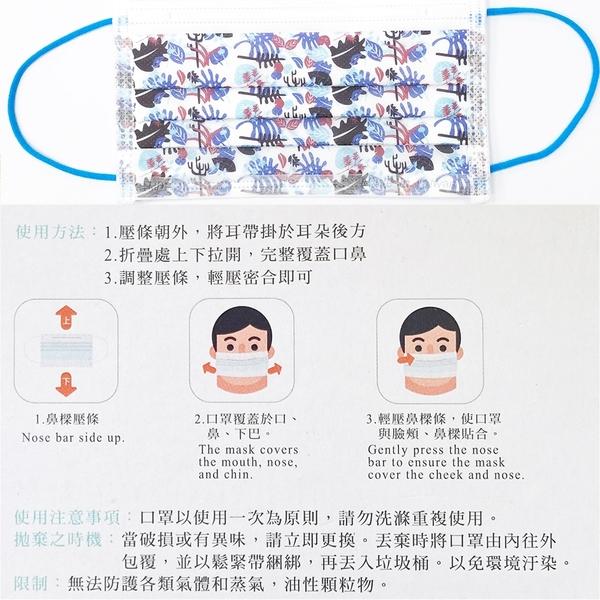 南六醫用口罩 葉子圖騰 (未滅菌) 成人 50入/盒 (雙鋼印) MIT台灣製造 | OS小舖