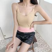 【GZ83】V領保暖背心女 加絨加厚打底衫 學生吊帶條紋棉蕾絲保暖內衣