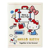 日本限定  HELLO KITTY  旅行風 護照套