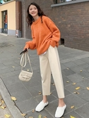 哈倫褲 哈倫褲闊腿褲女秋冬2020新款高腰垂感奶奶寬鬆直筒蘿卜褲休閒哈倫褲
