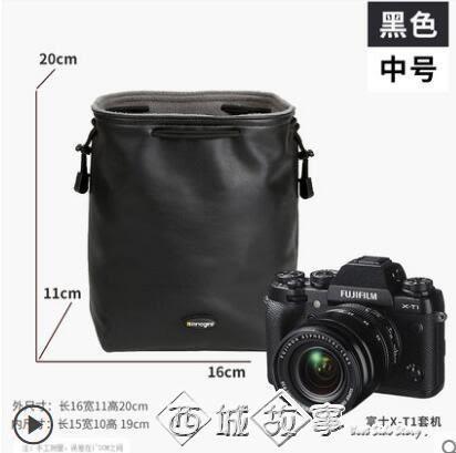 安諾格爾單反相機鏡頭袋a收納r攝影復古6d2便攜g7x佳能5d4尼康3索尼sony富士微單m6數碼 西城故事