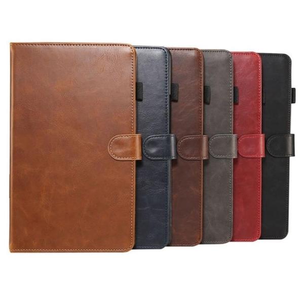 華為MediaPad T3 T5 8.0 9.6 10 10.1 保護套牛皮仿真皮復古紋翻蓋皮套平板套支架插卡保護套