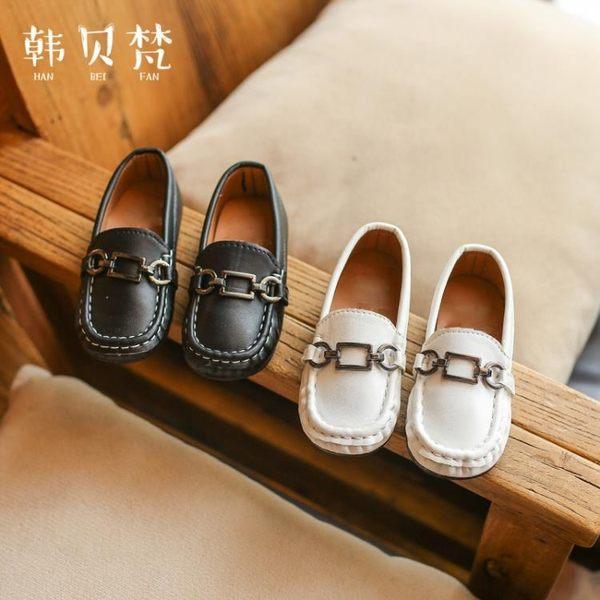 【618好康又一發】兒童豆豆鞋女童寶寶鞋男童皮鞋單鞋