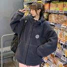 棒球服 衛衣外套寬松刺繡字母半高領拉鏈套頭衛衣女MA100-A.一號公館