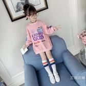 女童衛衣秋裝長袖2019新品韓版兒童裝夏季裝中長款圓領洋氣上衣潮款